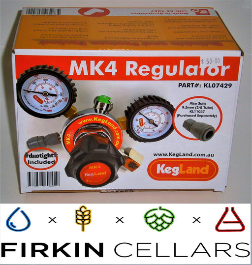 CO2 Gas Regulator MK4 Dual Gauge Multi Gas - Type 30 (includes 8mm x FFL duotight)