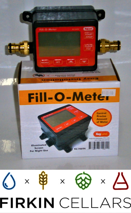 Kegland  Fill-O-Meter & Garden hose Connector- Volumetric Water Measuring Device