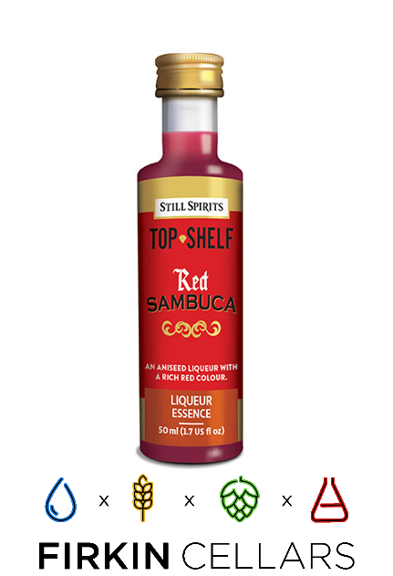 Still Spirits Top Shelf Red Sambuca Liqueur Home Brew Flavouring Essence