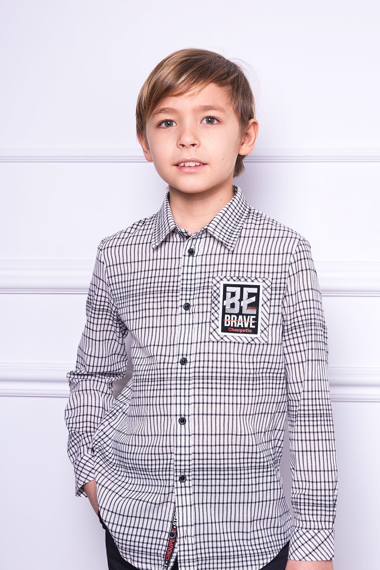 Be Brave Checkered Shirt