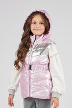 Load image into Gallery viewer, Hooded Metallic Puffer Vest