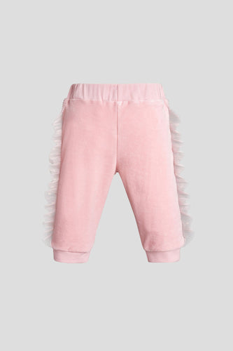 Tulle Side Velour Joggers