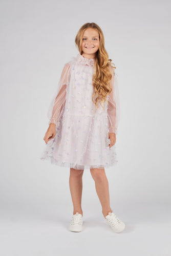 Butterfly Embellished Hooded Dress