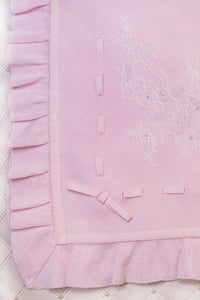 Knit Ruffles and Lace Knit Blanket