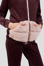 Load image into Gallery viewer, Faux Fur Decorated Tracksuit