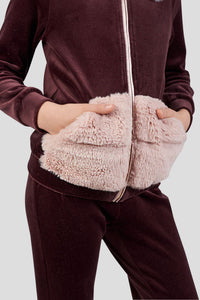 Faux Fur Decorated Tracksuit