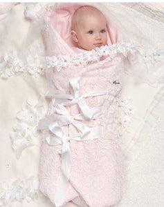 Convertible Lace Nest-Blanket, Pink