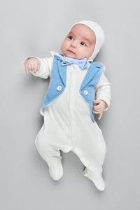 Buttons Up Tuxedo-Coverall