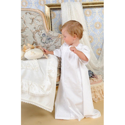 Crochet Lace Baptismal and Christening Shirt