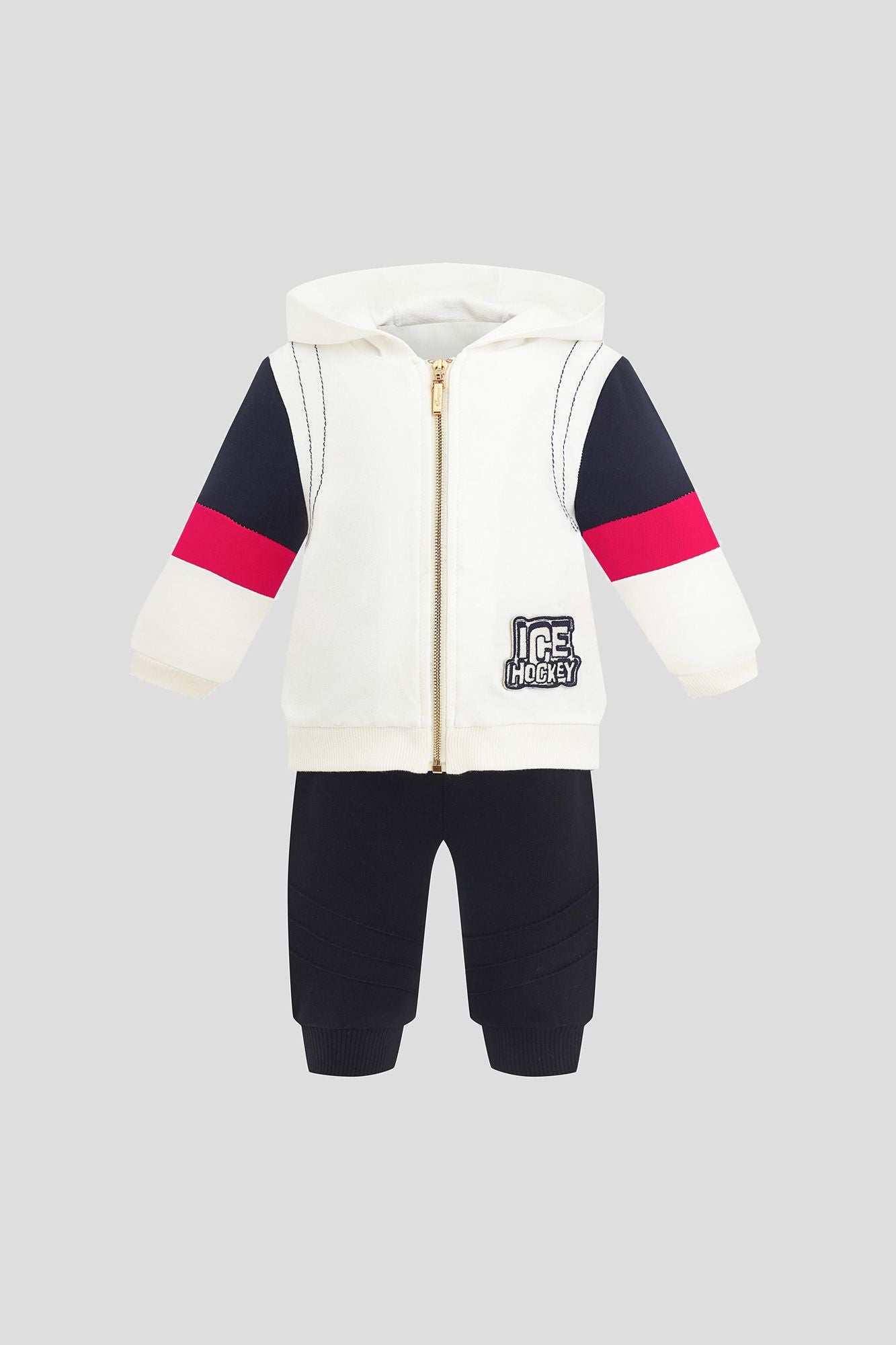 Hooded Jacket Tracksuit Set