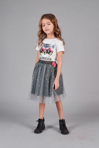 Doted Tulle Skirt