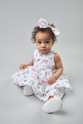 Funny-Bunny Dress with Headband