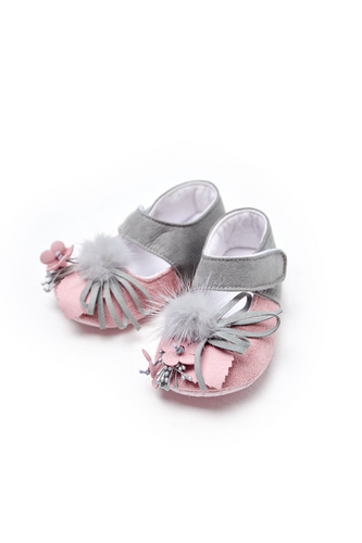 Pom-Pom Crib Shoes