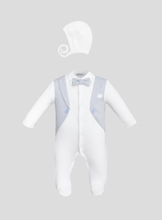 Load image into Gallery viewer, Tuxedo Imitation Coverall and Bonnet