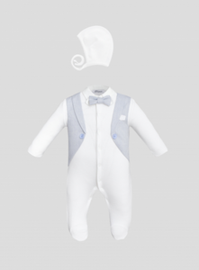 Tuxedo Imitation Coverall and Bonnet