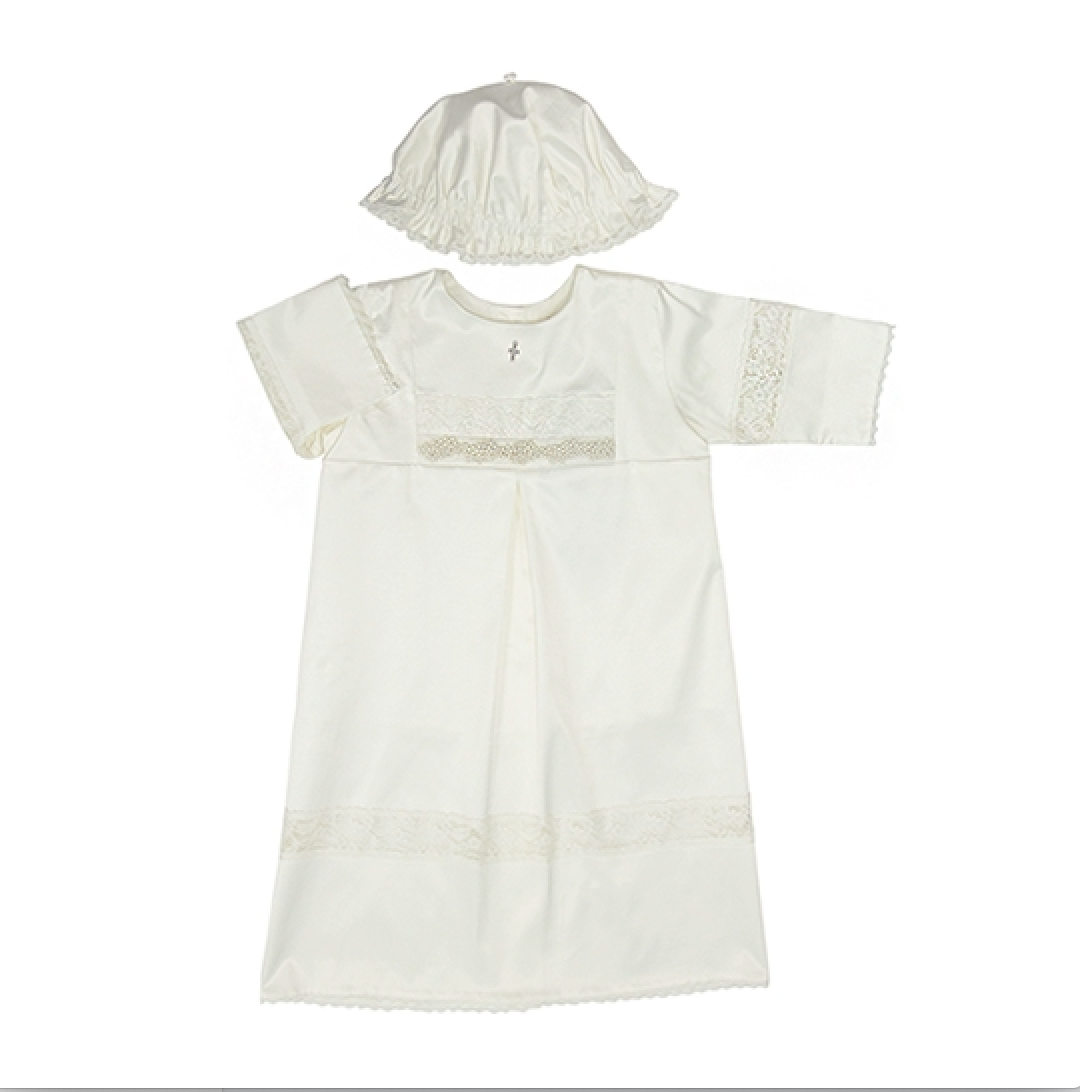 Baptismal and Christening Gown With Pearls