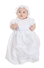 Load image into Gallery viewer, Crochet Lace Baptismal and Christening Dress with Hat
