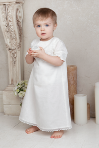 Lace Insert Baptismal  and Christening Shirt