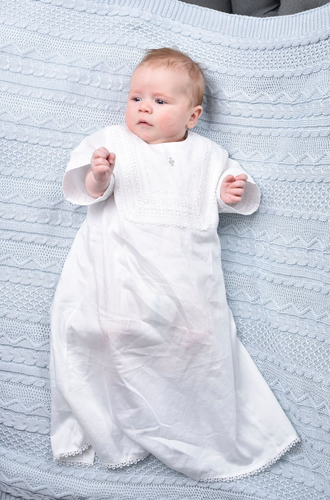 Lace Trim Baptismal and Christening Shirt