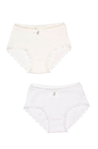 Openwork Lace Panties , 2-Pack