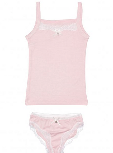 Lace Trim Camisole and Panty Set, Micromodal