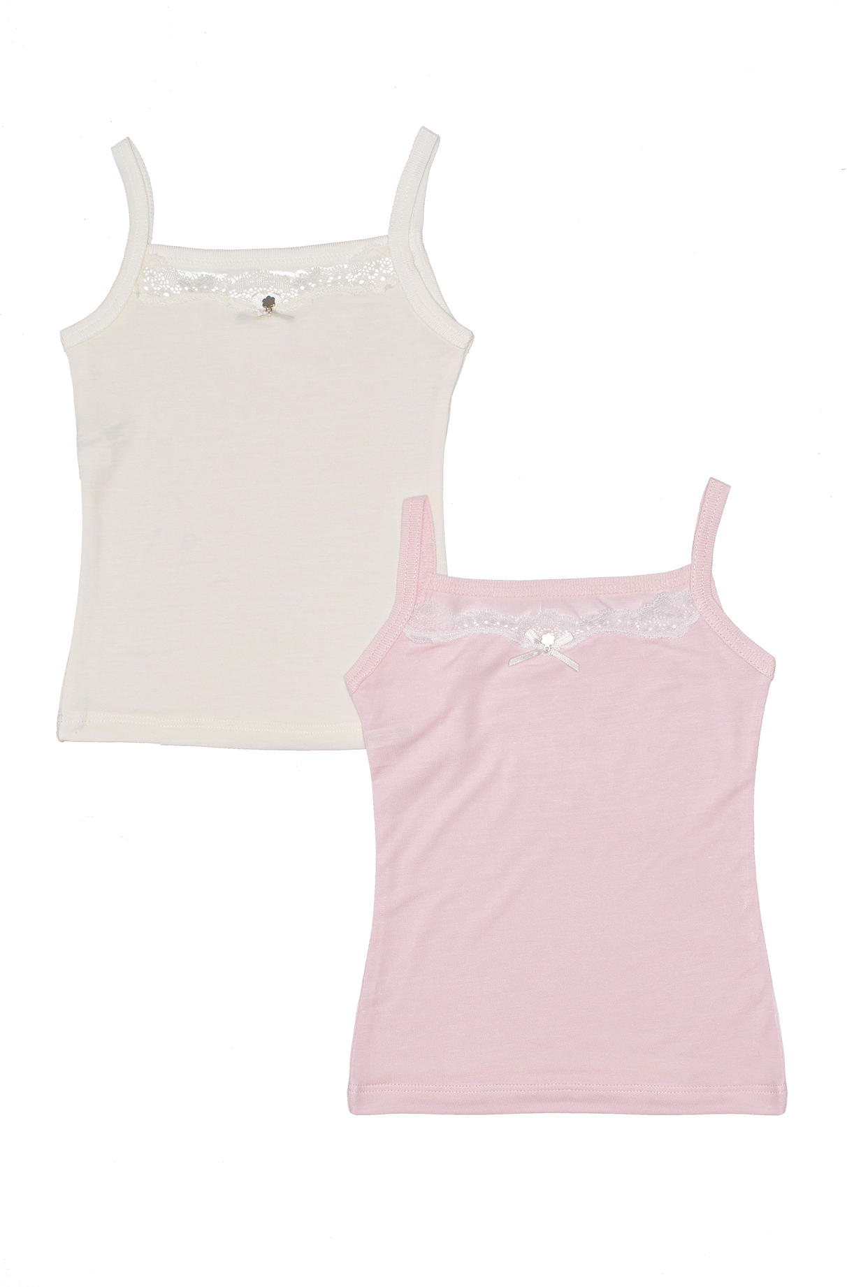 Lace Trim Camisole, 2-pack