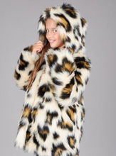 Load image into Gallery viewer, Animal Print Fur Coat
