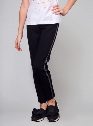 Metallic Stripe Side Pant