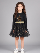 Load image into Gallery viewer, Moon & Stars Tutu Skirt