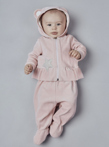 Velour Tracksuit with Decorated Hood