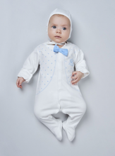 Load image into Gallery viewer, Printed Coverall with Bow-Tie