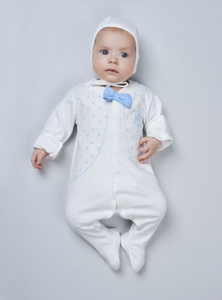 Printed Coverall with Bow-Tie