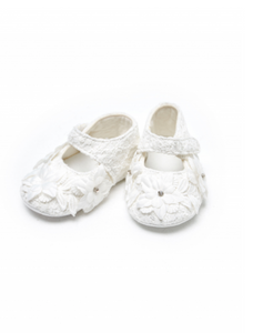 3-D Flowers Crib Shoes