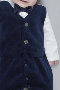Two-Tone Velour Coverall