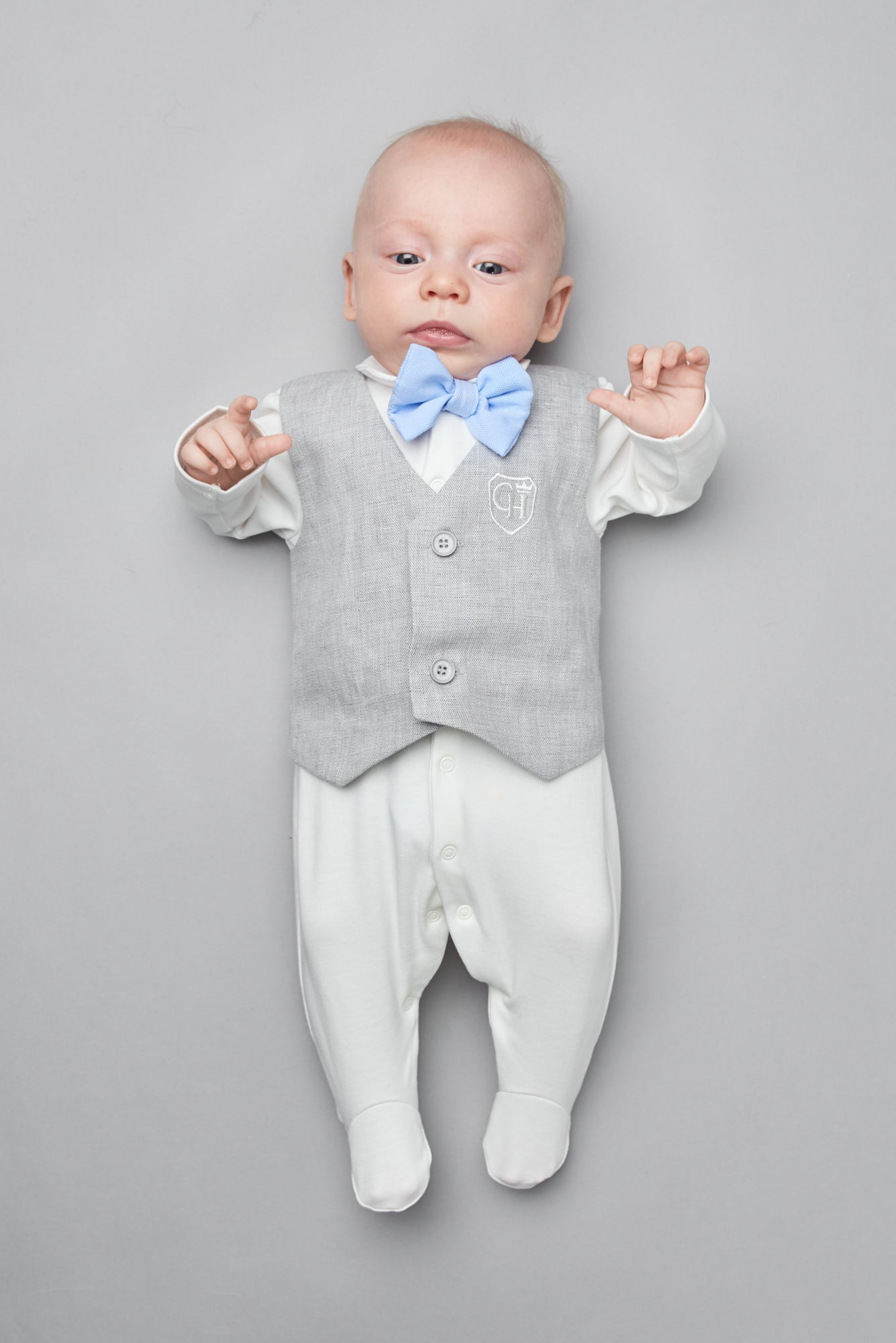Contrast Bow-Tie Tuxedo Coverall