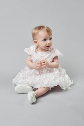 3-D Flowers Dress and Bloomer