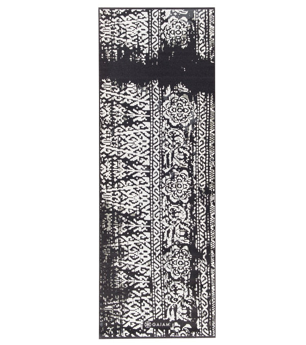 Gaiam Sapphire Feather Printed Yoga Mat 68 Quot 6mm Extra