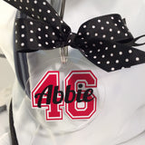 Player Jersey Number Bag Tag, Personalized, Monogram