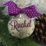 Music Notes Ornament, Chorus, Show Choir, Band, Singer, Personalized, Monogrammed