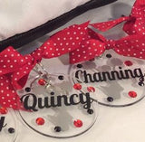 Cheerleader Pom Bag Tag, Personalized, Cheerleading Accessories, Cheerleading Decor, Cheerleading Party, Cheerleading Bag Tag