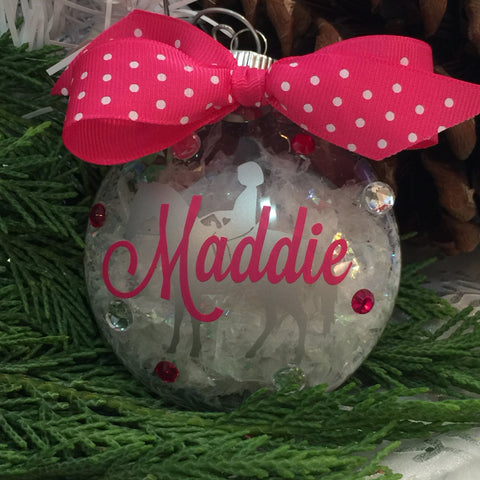 Horseback Riding Equestrian Ornament, Personalized