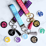 Your State, Personalized, Monogrammed, Wrist Lanyard, Key Fob, Wristlet, California Shown Here