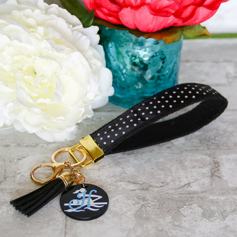 Rower Gift, Crew Team, Rowing Accessory, Personalized, Monogrammed, Wrist Lanyard, Key Fob