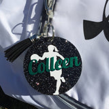 Basketball gift, glitter bag tag, Personalized bag tag, basketball gift, gifts for basketbak, monogrammed