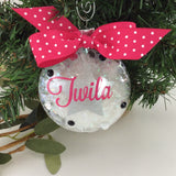 Glitter star Ornament, Personalized Ornament, personalized name, monogram
