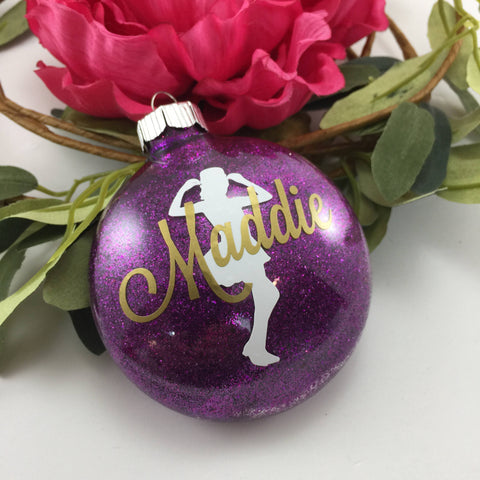 Jazz Dancer Glitter Ornament