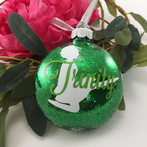 Irish Dance Birdie Glitter Ornament