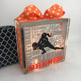 Volleyball Libero Typography GemLight, Volleyball Gifts, Volleyball Decor, Sports Decor, Personalized