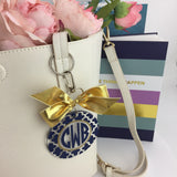 Circle Lattice Monogram Bag Tag, Personalized, Accessories