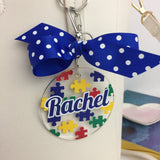 Puzzle bag tag, Puzzle Gift, minis, Monogram Bag Tag, Personalized, Accessories